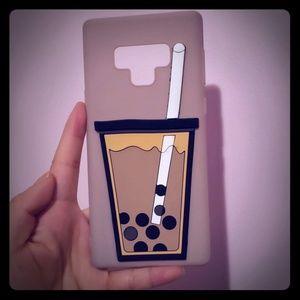 Samsung Galaxy Note 9 bubble tea 3D silicone case